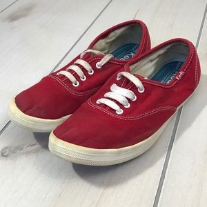Keds Red Canvas Sneakers Sz 7.5